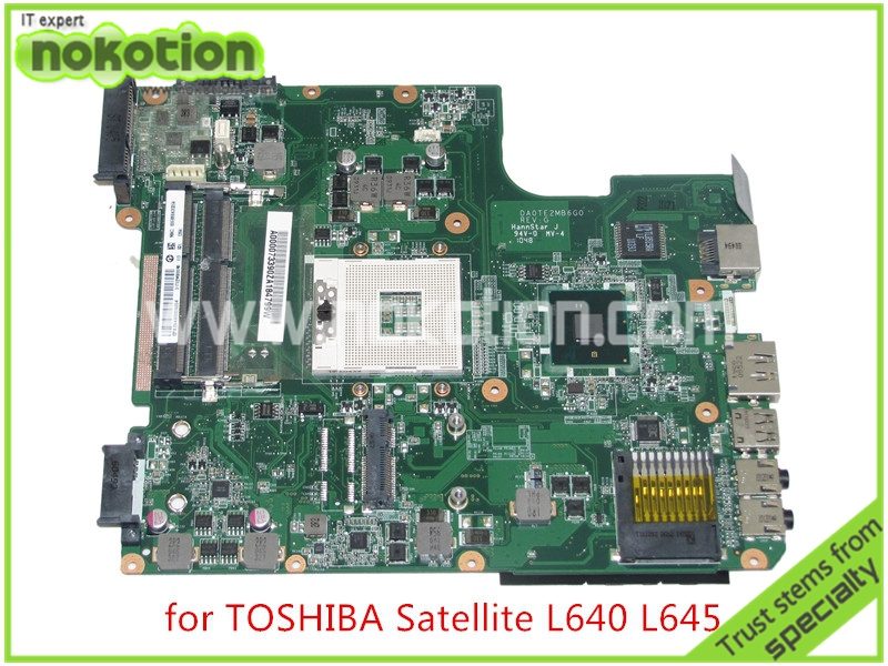 NOKOTION Anakart A000073390 DA0TE2MB6G0 REV G Için toshiba satellite L640 L645 laptop anakart intel HM55 HD grafik