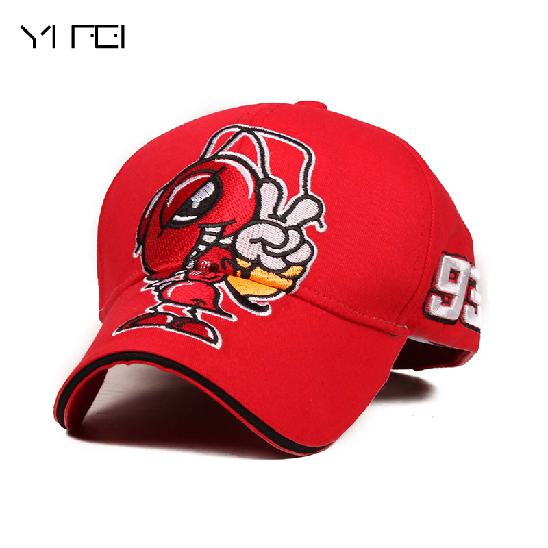 YIFEI New Autumn Summer Motorcycle MOTO Repsol Wing Honda 93 Baseball Cap Snapback Motocross Race Cap Adjustable Oudoor Caps