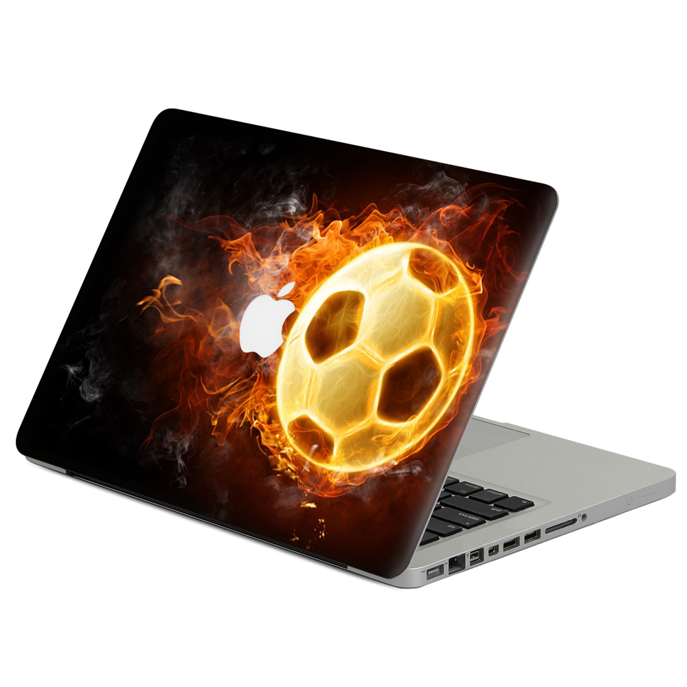 Alev futbol laptop decal sticker cilt için macbook air pro retina 11 13 15 vinil Mac Case Notebook Vücut Tam Kapak Cilt